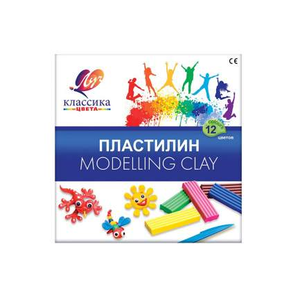 Пластилин ЛУЧ Классика 12 цветов 7С331-08