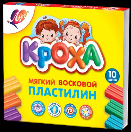 Пластилин ЛУЧ Кроха 10 цветов 12С875-08