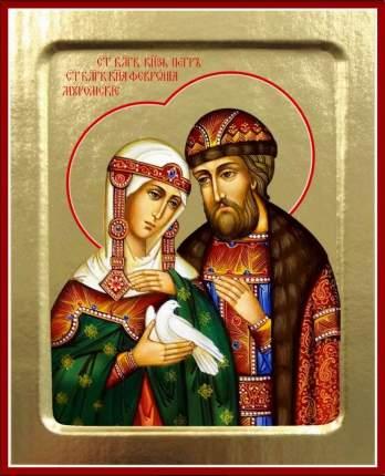 Икона благоверных Петра и Февронии Муромских (с голубем) на дереве: 125х160