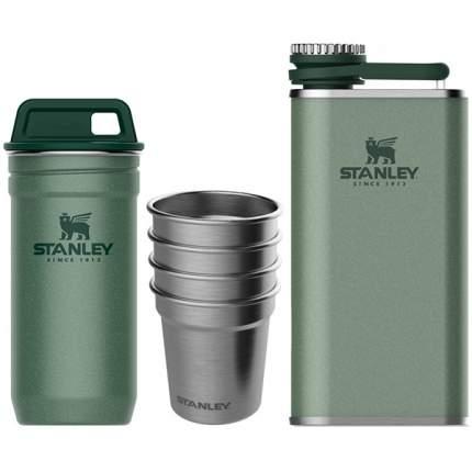 Набор 4 стопки 59мл + фляга 0.23л STANLEY Adventure - Зеленый (10-01883-034)