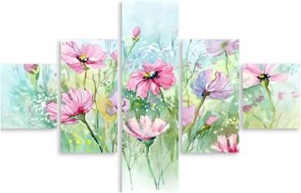 Картина модульная на холсте Модулка Нежность цветка 150x102 см