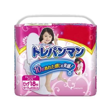 Трусики-подгузники для приучения к горшку Moony для девочек XL (12-17 кг), 18 шт.