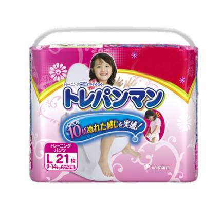Трусики-подгузники для приучения к горшку Moony для девочек L (9-14 кг), 21 шт.