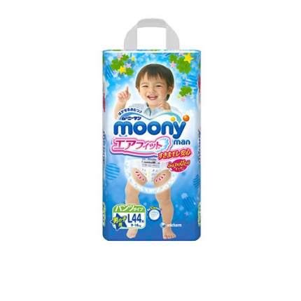 Трусики-подгузники Moony Air Fit для мальчиков L (9-14 кг), 44 шт.