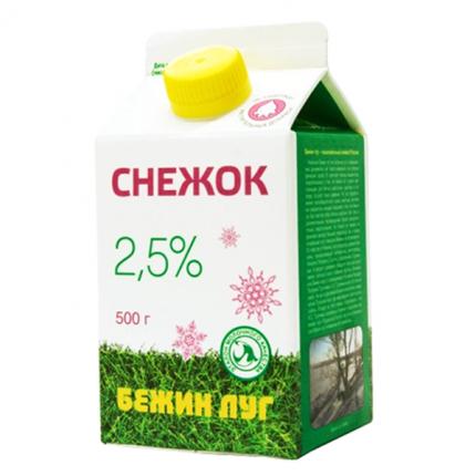 Бзмж снежок бежин луг 2,5% п/пак 450г