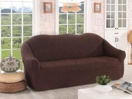 Karna 2652 Чехол для дивана KARNA трехместный , без юбки Коричневый