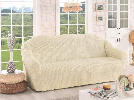 Karna 2652 Чехол для дивана KARNA трехместный , без юбки Кремовый