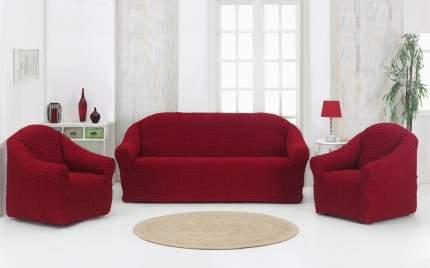 Karna 1780 Набор чехлов дла дивана KARNA 3+1+1 , без юбки Бордовый