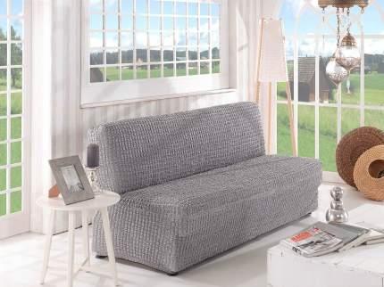 Karna 2649 Чехол для дивана KARNA двухместный без подлокотников , без юбки Серый