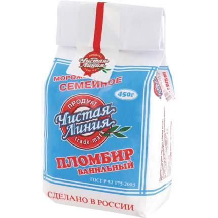 Мороженое Чистая Линия Семейное пломбир, 450 г БЗМЖ