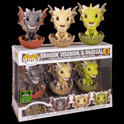 Фигурка Funko POP! Game of Thrones: 3PK Drogon, Viserion, & Rhaegal