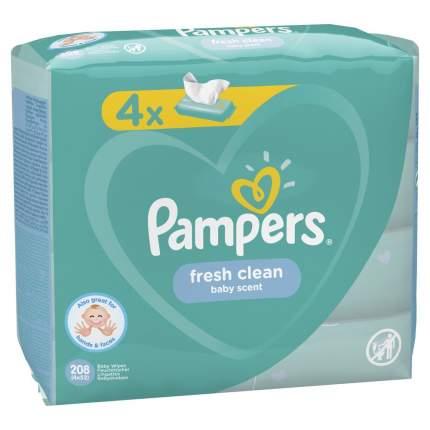 Детские влажные салфетки Pampers Fresh Clean 208 шт.