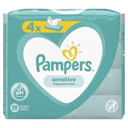 Детские влажные салфетки Pampers Sensitive 208 шт.