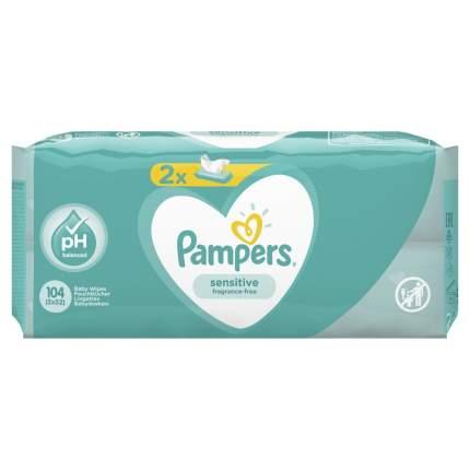 Детские влажные салфетки Pampers Sensitive 104 шт.