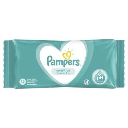 Детские влажные салфетки Pampers Sensitive 12 шт.