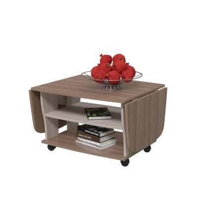 Журнальный столик Гранд-Кволити Стол 6-0212 74/138х66х46 см, ясень шимо тёмный-светлый