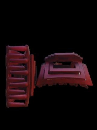 Заколка Краб 7 см Duolaimei 2 шт цвет бордовый