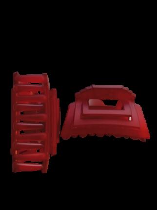 Заколка Краб 7 см Duolaimei 2 шт цвет красный