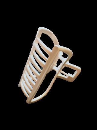 Заколка Краб металлическая 7 см Duolaimei цвет серебристый