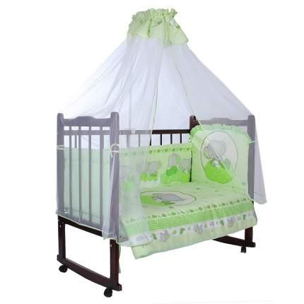 Комплект в кроватку Золотой гусь Слоник Боня зеленый
