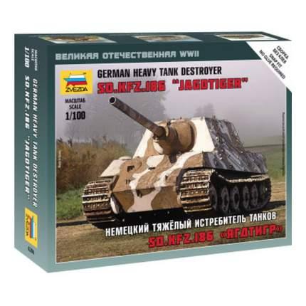 Модель для сборки Zvezda 1:100 Немецкий тяжелый истребитель танков Ягдтигр