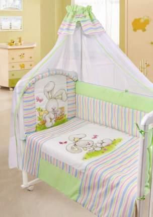 Комплект в кроватку Золотой гусь Радужный зеленый
