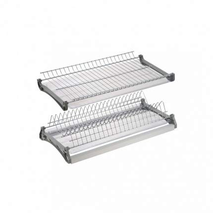 Сушка для посуды 400 мм алюминий, хром, VAR 400 в шкаф 400 мм.