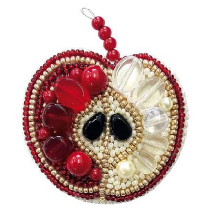 Набор для создания украшений из бисера Красное яблоко 5,5х7,0см