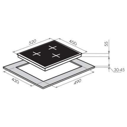 Встраиваемая варочная панель электрическая MAUNFELD EVCE.453.D-BK Black
