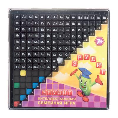 Семейная настольная игра Биплант Эрудит черные фишки 10011