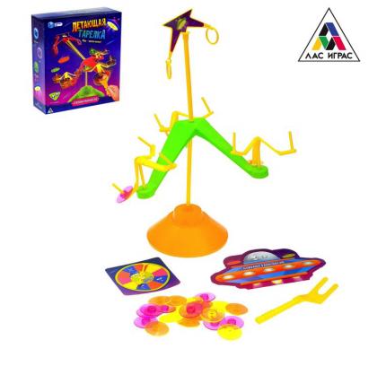 Настольная игра на ловкость и везение «Летающая тарелка» ЛАС ИГРАС