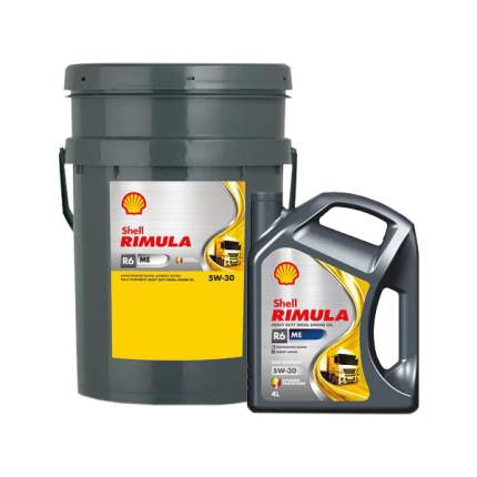 Моторное масло Shell Rimula R6 ME 5w-30 4л