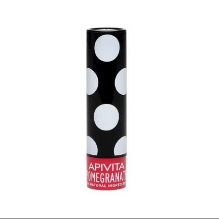 Увлажняющий уход для губ Apivita с оттенком Граната, стик, 4,4 гр