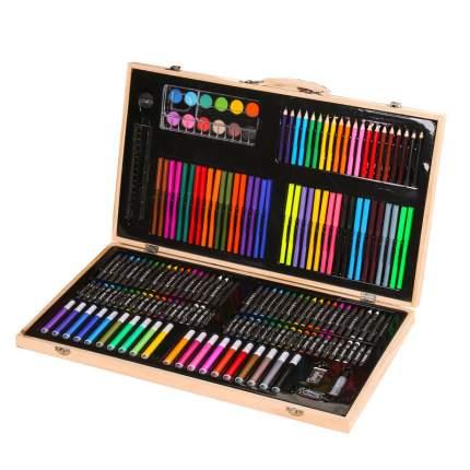 Набор для рисования в деревянном чемоданчике (220 предметов)