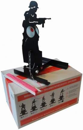 Мишень для пневматики солдат подъёмная металл 3мм Ф5