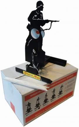 Мишень для пневматики солдат подъёмная металл 3мм Ф2