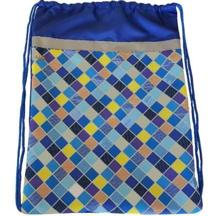 Мешок для обуви №1 School Клетка синяя, 370x470 мм