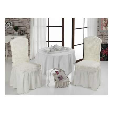 Чехол на стул KARNA Bet кремовый
