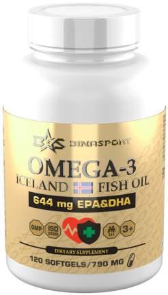Комплекс детский Омега-3 рыбий жир из Исландии Binasport 790 мг капсулы 120 шт.
