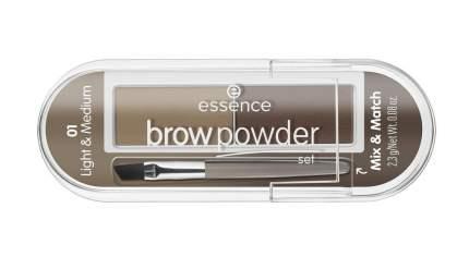 Тени для бровей essence - Brow Powder Set - блонд т. 01