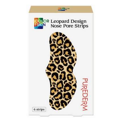 Полоски для носа Purederm, Color Skin Leopard, 6 шт.