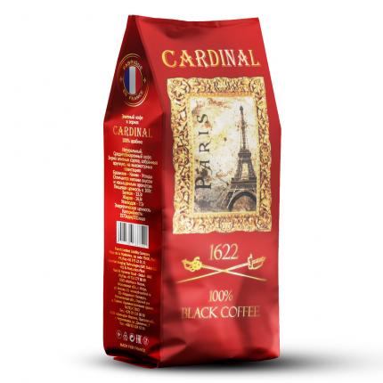 """Французский элитный черный кофе в зернах """"Кардинал"""", 100% Арабика"""