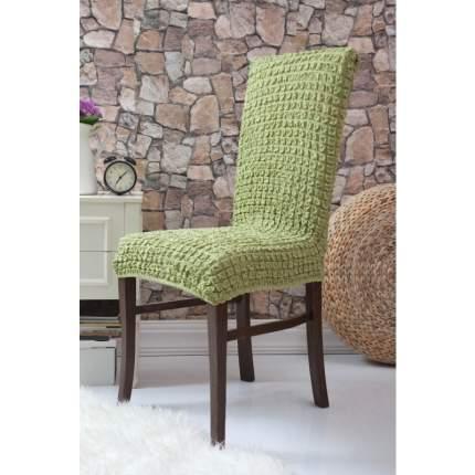 Чехол на стул без оборки Venera, оливковый, 1 предмет