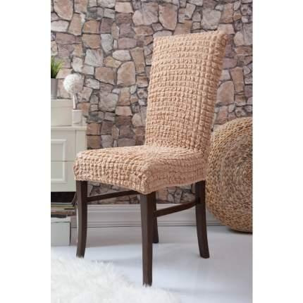 Чехол на стул без оборки Venera, бежевый, 1 предмет
