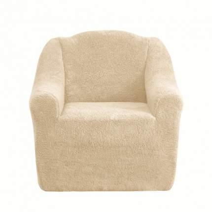 Чехол на кресло плюшевый Venera Seat soft, светло-бежевый
