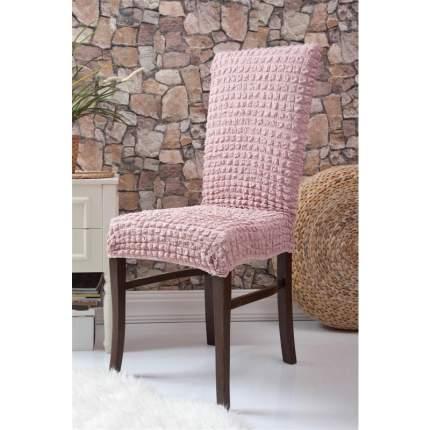Чехлы на стулья без оборки Venera, розовый, комплект 6 штук