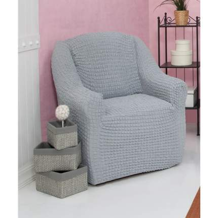Чехол на кресло без оборки Venera, серый