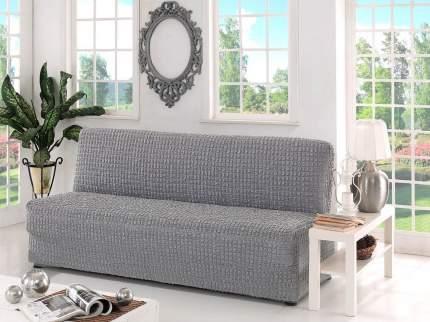 Karna 2650 Чехол для дивана KARNA трехместный без подлокотников, без юбки Серый