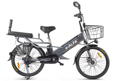 "Электровелосипед Green City e-Alfa GL 2021 19"" dark gray"