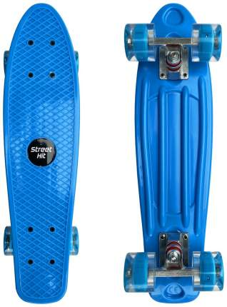 Скейт Cruiser Board Street Hit Голубой со светящимися колесами